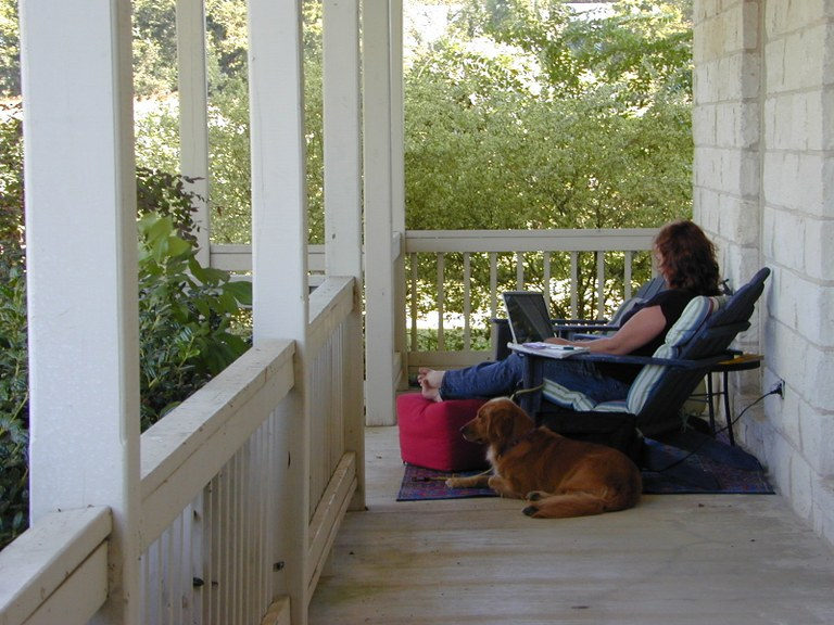 Marybelle on the porch